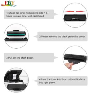 L'encre pour imprimante est facile à changer.