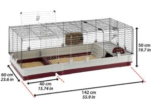 Cette cage à lapin est idéale pour vous, si vous avez besoins de séparer certains animaux tout en les gardant proche selon l'avis des experts.