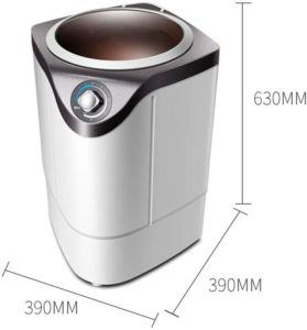 Cette petite machine à laver est portable. La meilleure machine à laver pour les petits espaces.