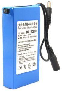 Cette batterie rechargeable est une batterie lithium-ion 12 V 6800 MAH. Selon les tests, cette batterie supportera un puissant émetteur sans fil, une caméra de vidéosurveillance, etc.
