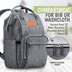 Ce sac à langer de la marque Keababies est très pratique selon les test et avis des utilisateurs. Il est en forme de sac à dos et offre de nombreux compartiments.