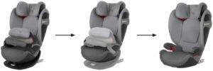 ce siège auto pour bébé vous évite de racheter toujours un nouveau siège lorsque votre enfant grandit.