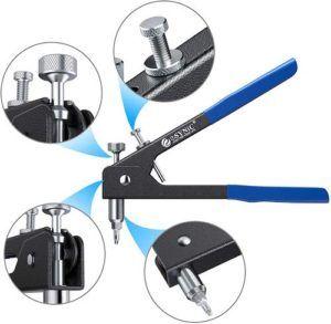 Le rivet écrou outil est adaptée pour être utilisés dans le véhicule, de remorques et de meubles, de réparation ou même bateau bâtiment selon les tests comparatifs.