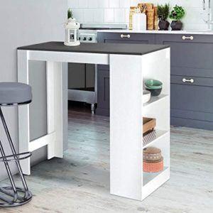 La table debout Barth offre de la place pour 2 à 4 personnes et est un ajout élégant à votre cuisine en blanc et gris, faites le test !