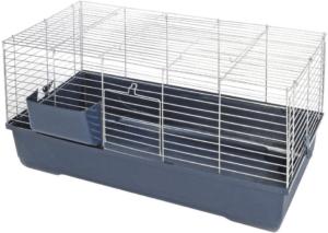Cette cage à lapin offre un espace de vie confortable au lapin selon l'avis des utilisateurs et des tests comparatifs.