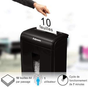 Selon les tests des clients, ce meilleur broyeur papier peut broyer 10 feuilles en même temps et vous épargnera du temps!