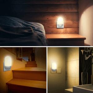 Cette lampe automatique LED de nuit Techole utilise un capteur photoélectrique, plus besoin de remplacer des ampoules.