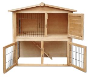 Cette cage à lapin est idéale pour l'extérieur selon l'avis des utilisateurs et des tests comparatifs. Les lapins pourront descendre et aller manger l'herbe dans votre jardin tout en étant protégés dans leur cage.