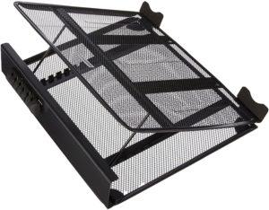 Support d'ordinateur portable ventilé permettant de limiter la chauffe des ordinateurs portables tout en réduisant les plantages.