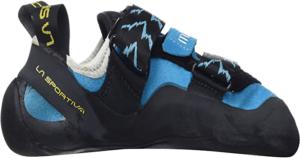 La courbe de ces chaussons d'escalade peut aider pour les débutants en escalade.