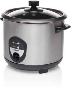 Le pot est équipé d'un bol anti adhésif amovible et d'une fonction de protection contre la marche à sec et de réchauffement.