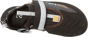 Ces chaussons d'escalade ont une fermeture en scratch. Pratique, selon les tests et avis des utilisateurs.
