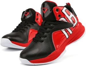 Ces chaussures de basket viennent avec un talon de 3 cm pour amortir les chocs.
