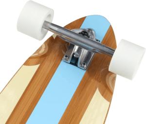 La forme des longboard peut varier et avoir une influence sur la conduite.
