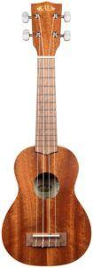 Instrument traditionnel en bois d'acajou comportant des finitions satinées