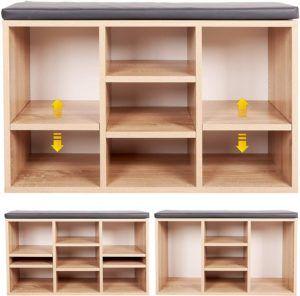 En bois, il dispose de 9 compartiments et son design moderne convient à toutes les maisons et sa petite taille permet de ne pas encombrer l'espace.