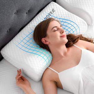 Au revoir douleurs, mauvaises postures et troubles du sommeil : dormez sur vos 2 oreilles, l'oreiller cervical veille sur vos nuits… et votre équilibre de vie !