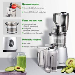Cet appareil permet d'extraire le jus de divers fruits. D'après les tests comparatifs, des purées de fruits séchés peuvent également être produites.