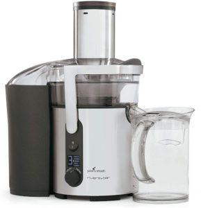 La centrifugeuse dispose d'un système exclusif : le disque à jus filtre et extrait tout le jus et sépare également la pulpe. D'après l'avis des utilisateurs, la machine est idéale pour la fabrication de jus de fruits et de légumes ainsi que de cocktails.