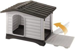 Il est fortement recommandé de surélever la base de votre niche pour chien de quelques centimètres, afin d'éviter toute forme d'humidité. Faites le test !