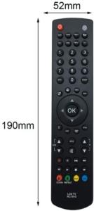 Cette télécommande petite en taille vous permet une prise en main agréable.