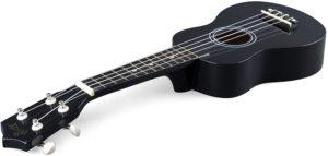 Instrument musical adapté aux enfants comportant des corde supplémentaires finitions mates