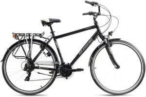 Vélo urbain conçu avec un porte-bagage à l'arrière