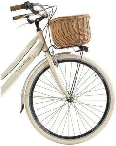 Vélo élégant avec un panier avant en osier