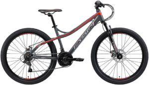Vélo à deux roues fait avec un cadre en aluminium