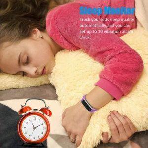 Montre intelligente pour enfants capable de mesurer l'activité physique.