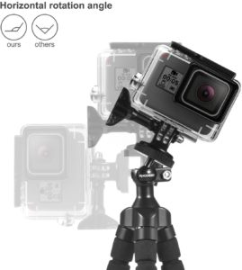 le trépied téléphone vous permet de changer facilement l'angle de photographie, testez les tous !