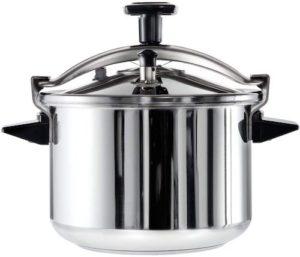 Marmite en acier inoxydable lavable au lave-vaisselle.