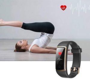 Appareil de suivi de la fréquence cardiaque pendant l'activité physique.