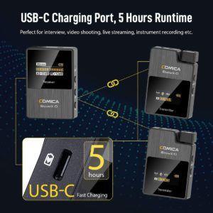 Micro réduit avec port USB pour charger la batterie.