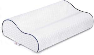 L'oreiller à mémoire de forme soulage les douleurs dorsales.