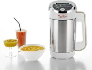 Que ce soit pour la soupe, la compote ou les smoothies, ce blender chauffant de Moulinex fera l'affaire.