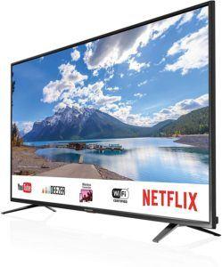 Téléviseur LED connecté avec résolution UHD 4K.