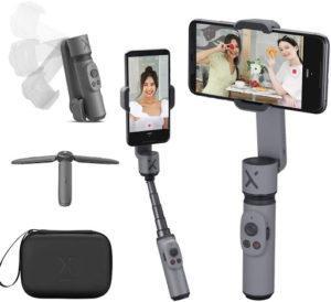 Le stabilisateur smartphone Smooth X et tous ses accessoires.