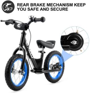 """Le petit plus de ce vélo est qu'il est entièrement customisable grâce aux autocollants inclus. Cela permet à votre enfant de décorer """"son"""" vélo selon ses envies. Un parfait compromis entre le besoin de sécurité et de qualité des parents et l'envie de choisir """"le plus beau vélo"""" des enfants."""