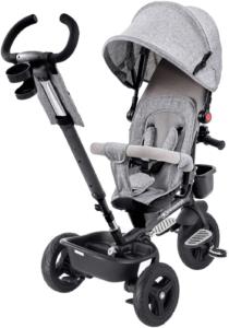 Le tricycle bébé évolutif a l'avantage d'évoluer avec votre enfant. Il pourra donc l'utiliser à 9 mois, tout comme à 5 ans selon l'avis des utilisateurs.