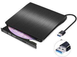 Un lecteur dvd externe avec USB 3.0.