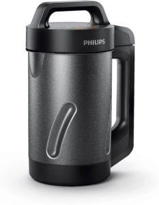 Le blender chauffant de Philips propose un design sobre.