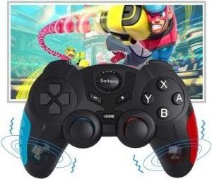 Manette compatible avec les consoles de jeu et les PC.
