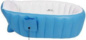 La baignoire pour bébé a un design ergonomique : le fond de la baignoire pour bébé est antidérapant et la texture est douce et lisse.