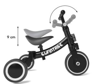 Vous pouvez facilement ajuster votre tricycle pour la grandeur de votre enfant selon l'avis des utilisateurs et des tests comparatifs.