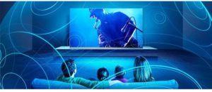 Un écran de 55 pouces offre une expérience télévisuelle spéciale.