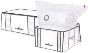 Ainsi, le sac de rangement sous-vide est peu encombrant, et permet d'optimiser au maximum l'espace de son lieu de vie