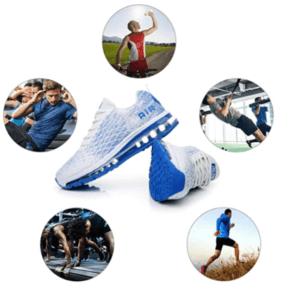 Baskets pour hommes adaptées à l'exercice physique intense.
