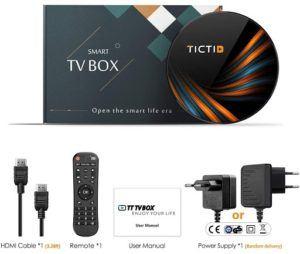 Boîtier iptv pour Android TV compatible Bluetooth.