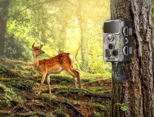 Caméra équipée de Wifi et de Bluetooth avec écran LED.